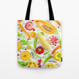 Fruits and vegetables pattern (12) Tote Bag