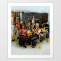 community Art Prints featuring Community by rcknroby