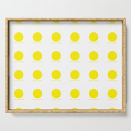 Canary Yellow Serving Tray