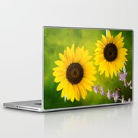 sunflowers Laptop & iPad Skins featuring Sunflowers.  by LudaNayvelt