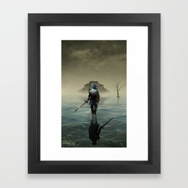 The hardest battle lies within (NEW Version) Framed Art Print