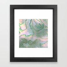 Shell Texture Framed Art Print