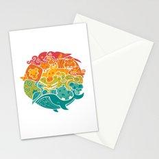 Animal Rainbow Stationery Cards