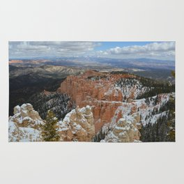 Snow in Bryce Canyon Utah Rug