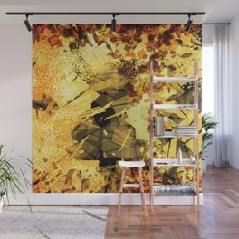 Crystallized Honey Drops Abstract Digital Art Wall Mural