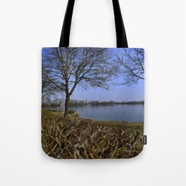 Looking at a lake in Laupheim Tote Bag