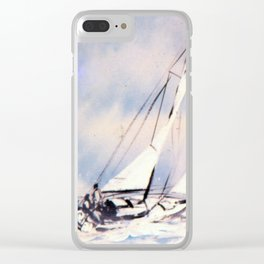 Sydney  to Hobart  Yacht Race        by Kay Lipton Clear iPhone Case