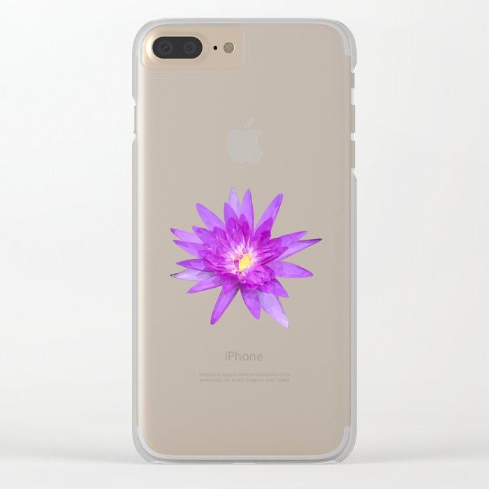 purple lotus flower Clear iPhone Case