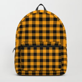 Classic Orange Country Cottage Summer Buffalo Plaid Backpack