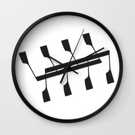 Rowing & Music notes 9 Wall Clock