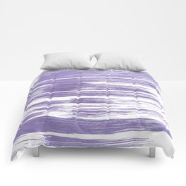 Modern abstract lilac lavender white watercolor brushstrokes Comforters