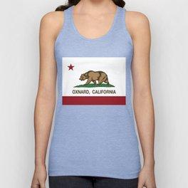 Oxnard California Republic Flag Unisex Tank Top