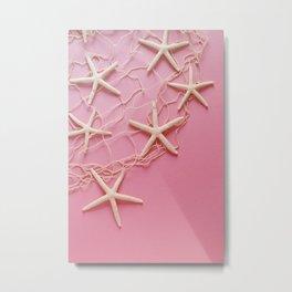 Starfish, pink Metal Print