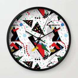 Postmodern Dinner Plates Wall Clock