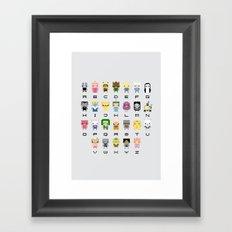 Ad Venture Time Alphabet Framed Art Print