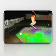 Jump for Joy. Land for Safety. iPad Case