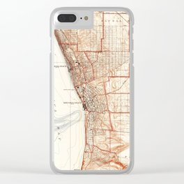 Vintage Map of Redondo Beach & Torrance CA (1934) Clear iPhone Case