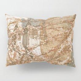 Hirosaki Castle Showa Period Hiroshi Yoshida Modern Japanese Woodblock Print Pillow Sham