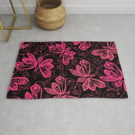 Pink Butterfly Rug