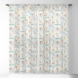 Into the Jungle - White Sheer Curtain