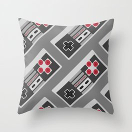 Retro Video Game Pattern Throw Pillow