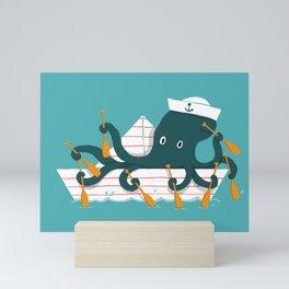 Sailor Octopus Mini Art Print