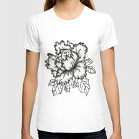 peony T-shirts featuring Peony by Emma Heller