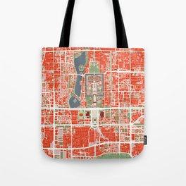Beijing city map classic Tote Bag