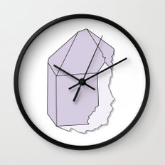 Amethyst Quartz Wall Clock