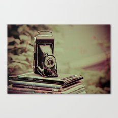 There's something about cameras, book and travel... Canvas Print