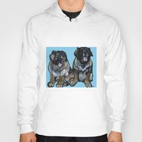 simba Hoodies featuring Simba and Snuffaluffagus the Leonbergers by Pawblo Picasso