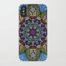 Blue Health Mandala - מנדלה בריאות iPhone Case