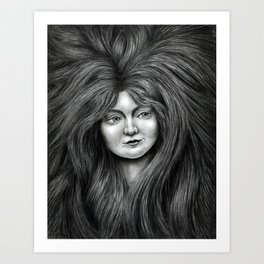 untitled - charcoal drawing Art Print