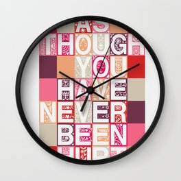 Love As Though Wall Clock