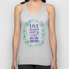 Watercolor Wreath Intentional life quote Unisex Tank Top