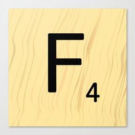 Scrabble F Decor, Scrabble Art, Large Scrabble Prints, Word Art, Accessories, Apparel, Home Decor Canvas Print