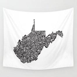 Typographic West Virginia Wall Tapestry