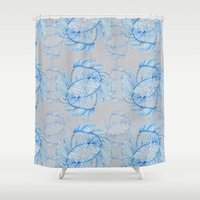crystals Shower Curtains featuring Crystals  by Becca Hardingham
