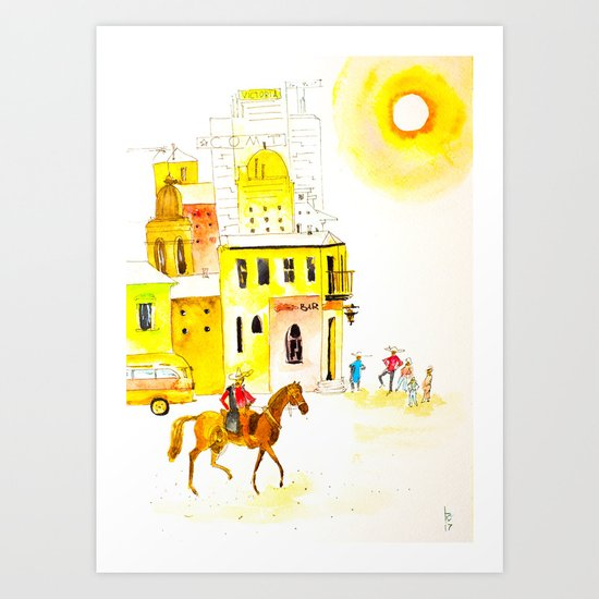 Somewhere in Mexico Art Print