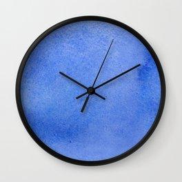 Azure watercolor Wall Clock