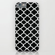 Black and White Graphic Flower iPhone 6s Slim Case