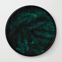 Blue Fern Twilight Wall Clock