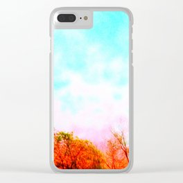 Colorful SkY : Things Are Looking Up Clear iPhone Case