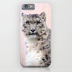 Snow Leopard in Pink iPhone 6s Slim Case