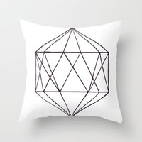 prism Throw Pillows featuring Prism by Bridget Davidson