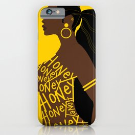 Honey // Yellow, Melanin, Woman, Femme, Black, Brown, Gold iPhone Case