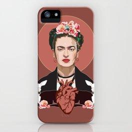 Frida Kahlo (Dark) iPhone Case