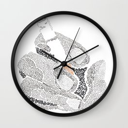 cigarette on hand Wall Clock