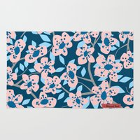 cherry blossom Area & Throw Rugs featuring Cherry Blossom by Alannah Brid