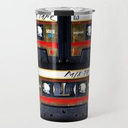 Retro classic vintage gold mix cassette tape Travel Mug